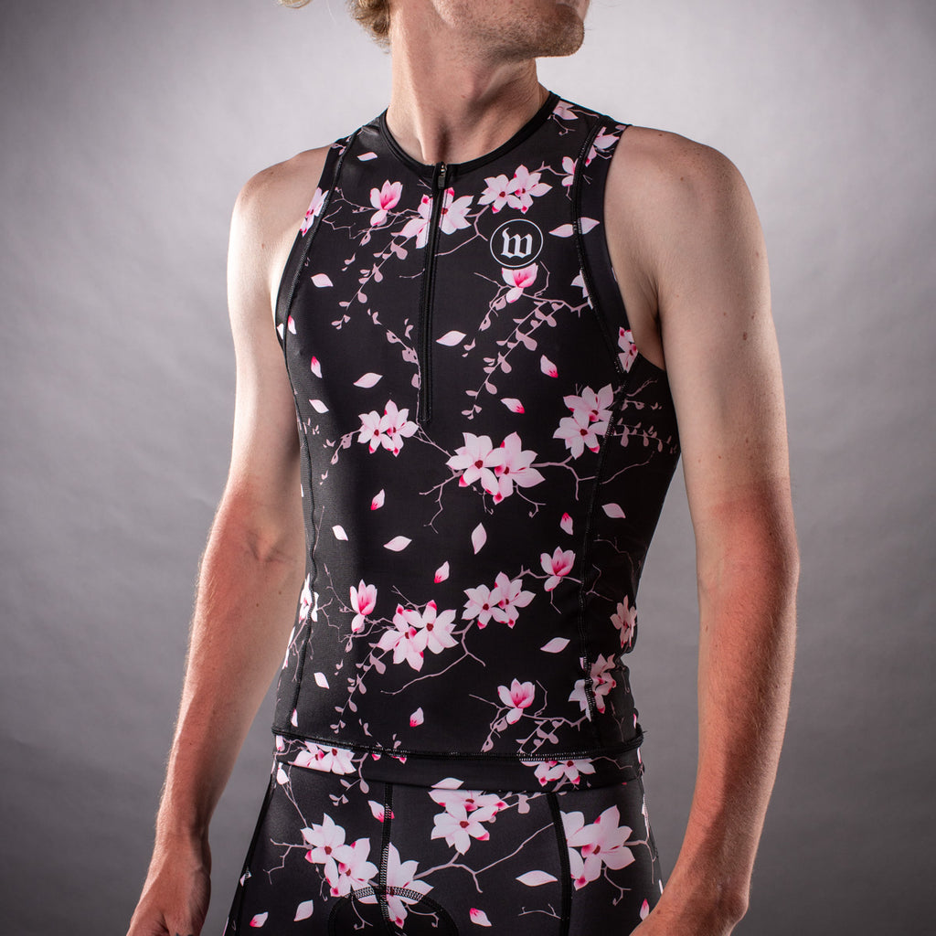Men's Hana Collection Contender Aero Triathlon Top - Floral