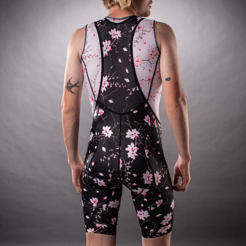 Men's Hana Collection Contender Bib Short - Floral