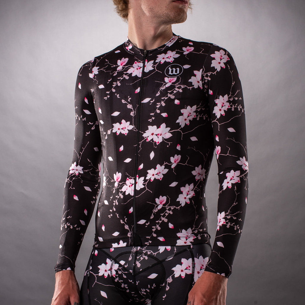 Men's Hana Collection SuperFly Long Sleeve Summer Jersey - Floral