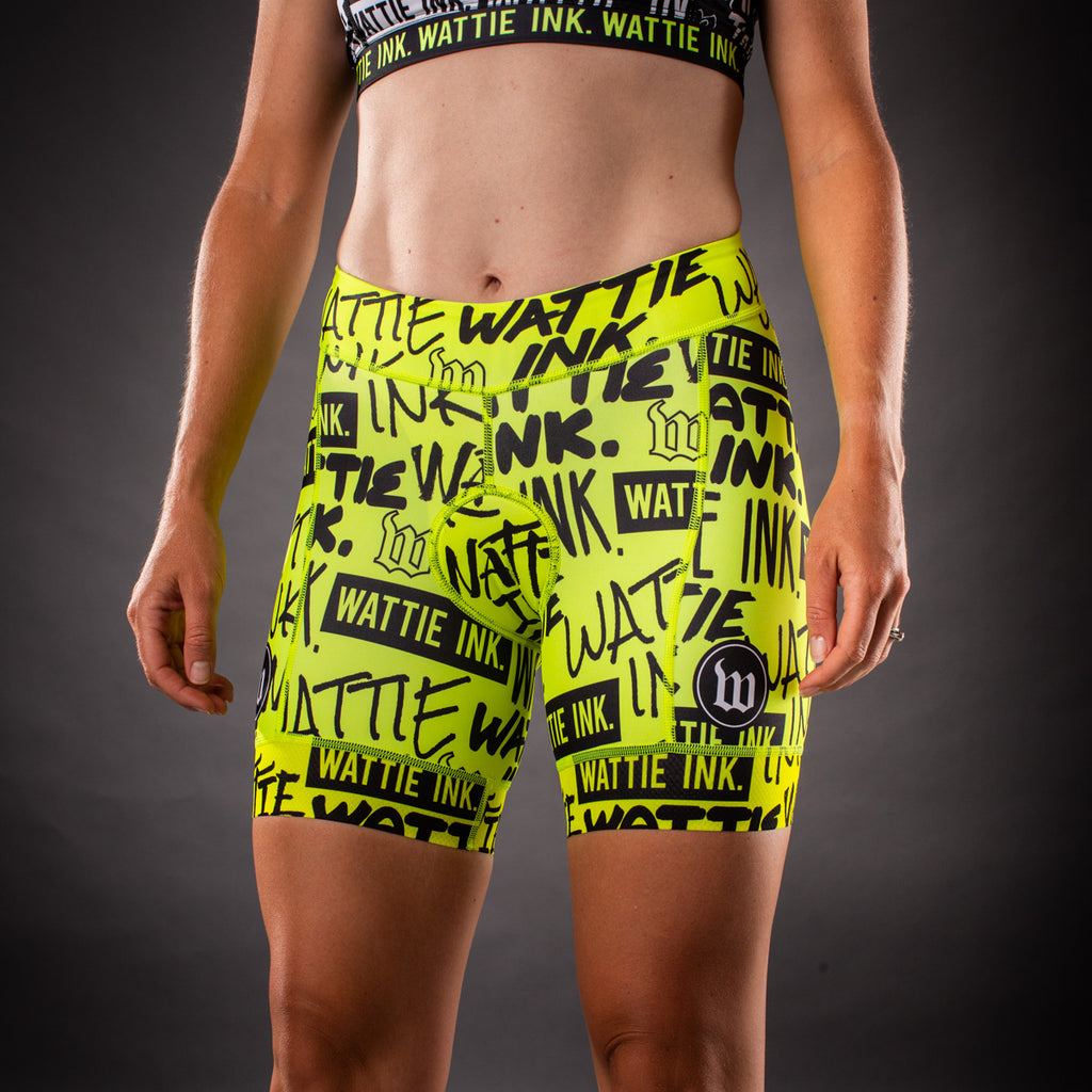 Women's Street Punk Contender Tri Short - Yellow