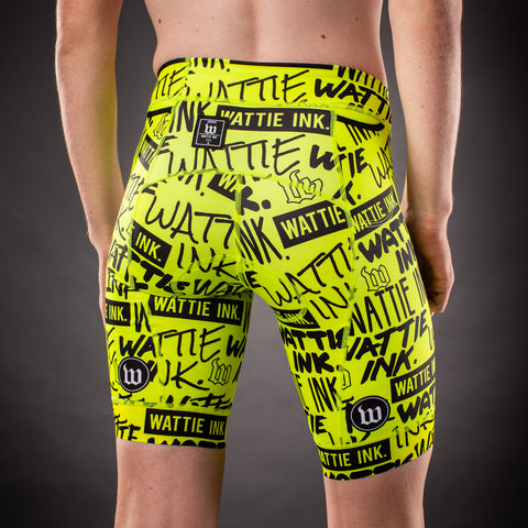 Men's Street Punk Contender Aero Triathlon Shorts - Yellow