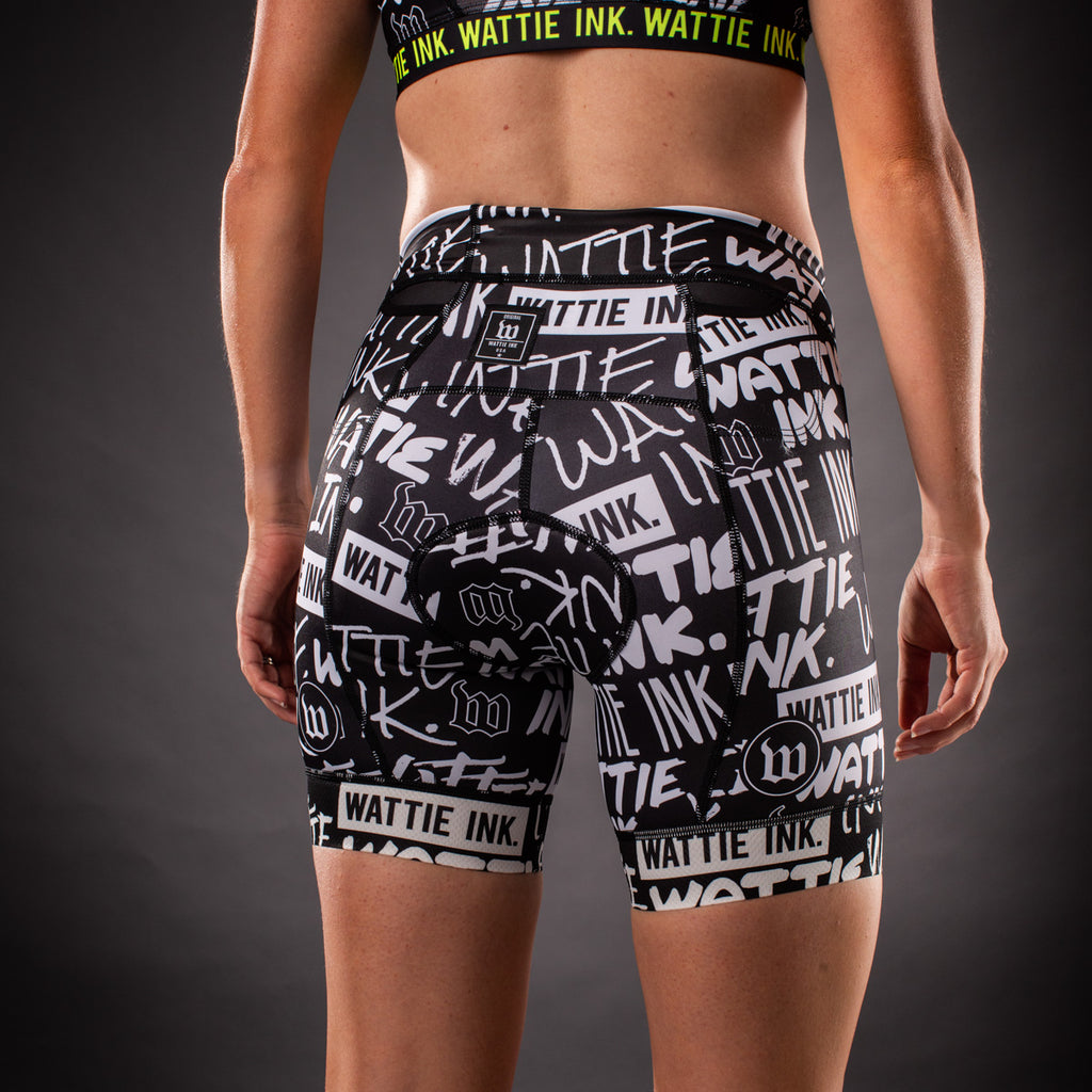 Women's Street Punk Contender Aero Triathlon Shorts - Black