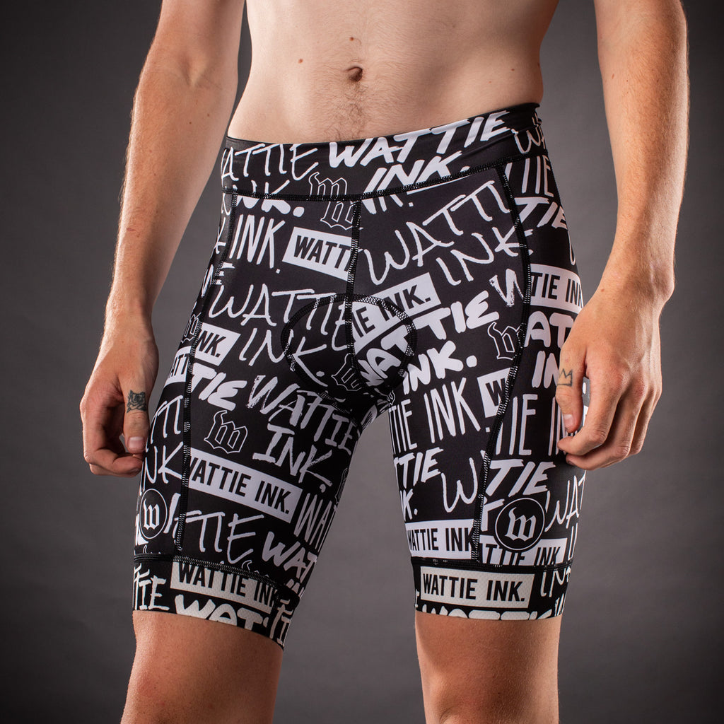 Men's Street Punk Contender Aero Triathlon Shorts - Black