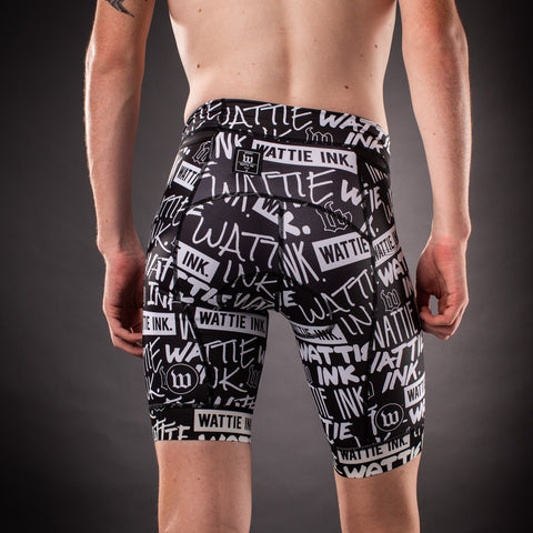 Men's Street Punk Contender Tri Short - Black