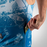 Men's Bones & Sand Contender Aero Triathlon Top - Slate
