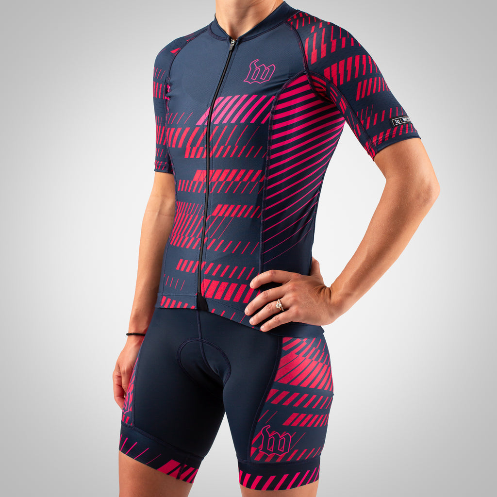 Women's AXIOM Road Contender 2.0 Aero Cycling Jersey - Ruby