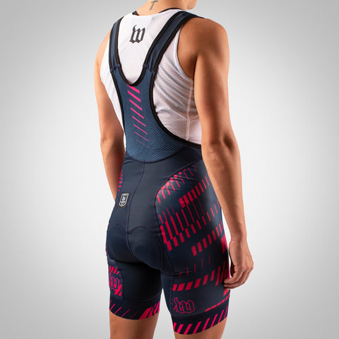 Women's AXIOM Road Contender Bib Short - Ruby-hover