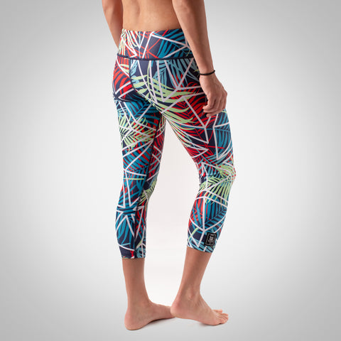 Women's Cabana Tights - Palm-hover