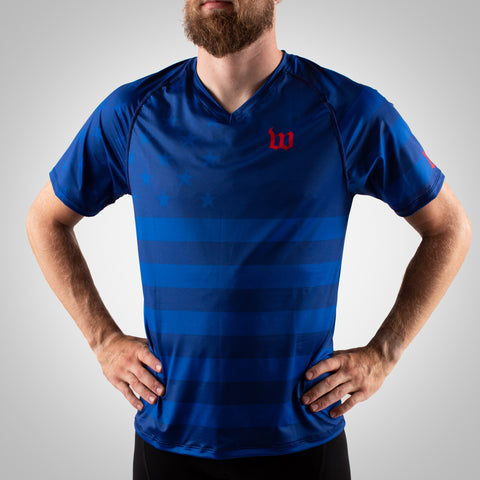 Men's Patriot Running Top - Blue