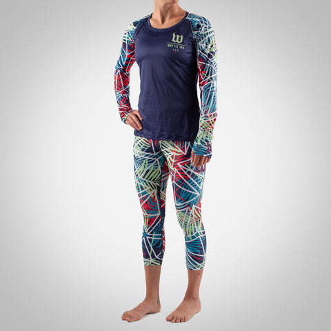 Women's Cabana Long Sleeve Run Top - Palm-hover