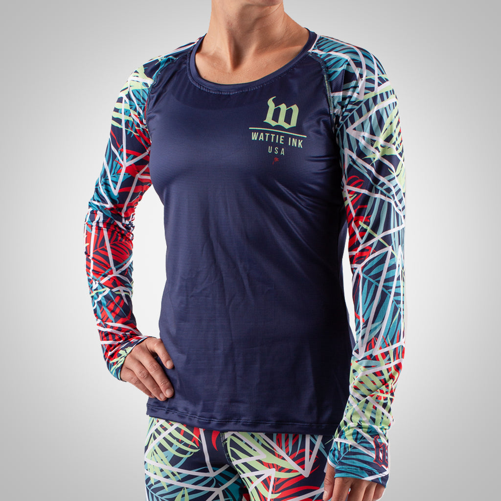 Cabana - Women's Long Sleeve Run Shirt - Palm