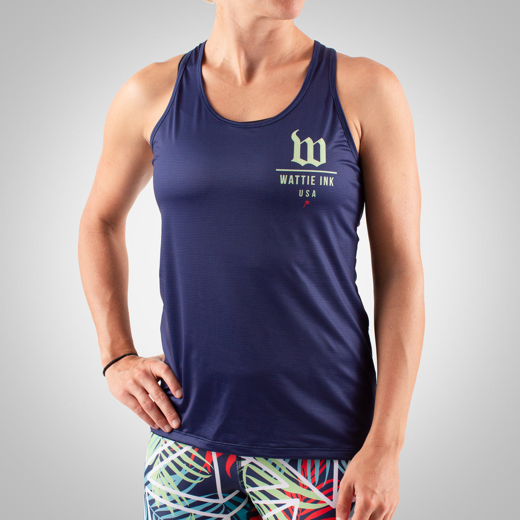 Cabana - Women's Running Tank - Navy