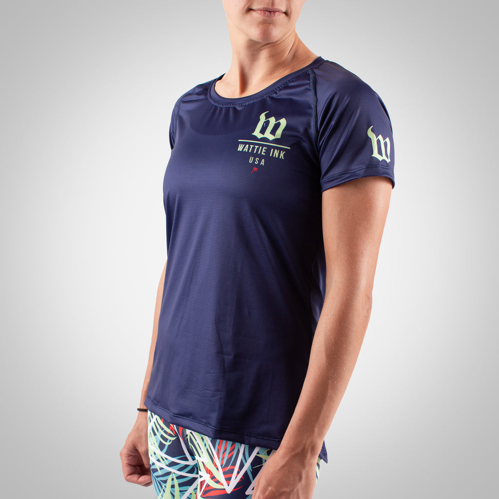 Women's Cabana Running Top - Navy