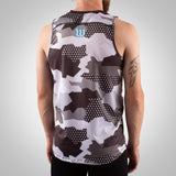 Men's Urban Assault Running Singlet - Snow Camo