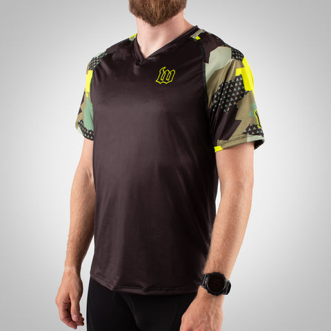Men's Urban Assault Running Top - Army Camo