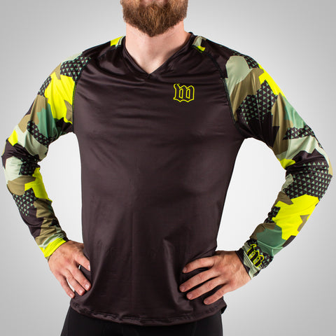 Urban Assault - Men's Long Sleeve Run Shirt - Army