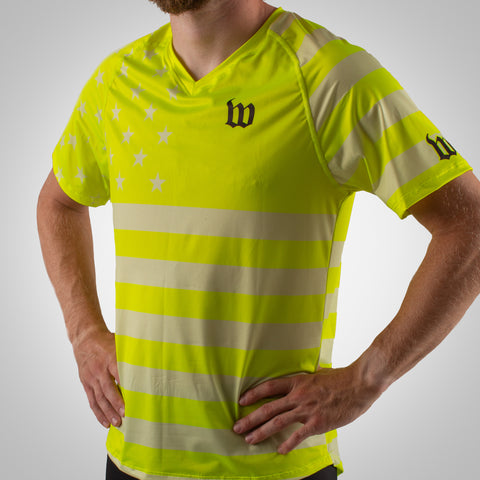 Patriot Run - Men's Running Top - Yellow