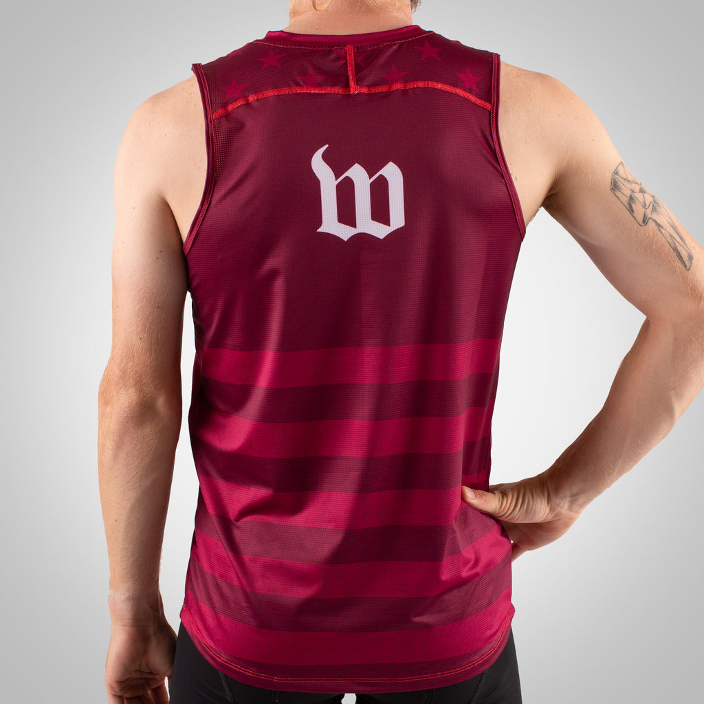 Patriot Run - Men's Running Singlet - Maroon