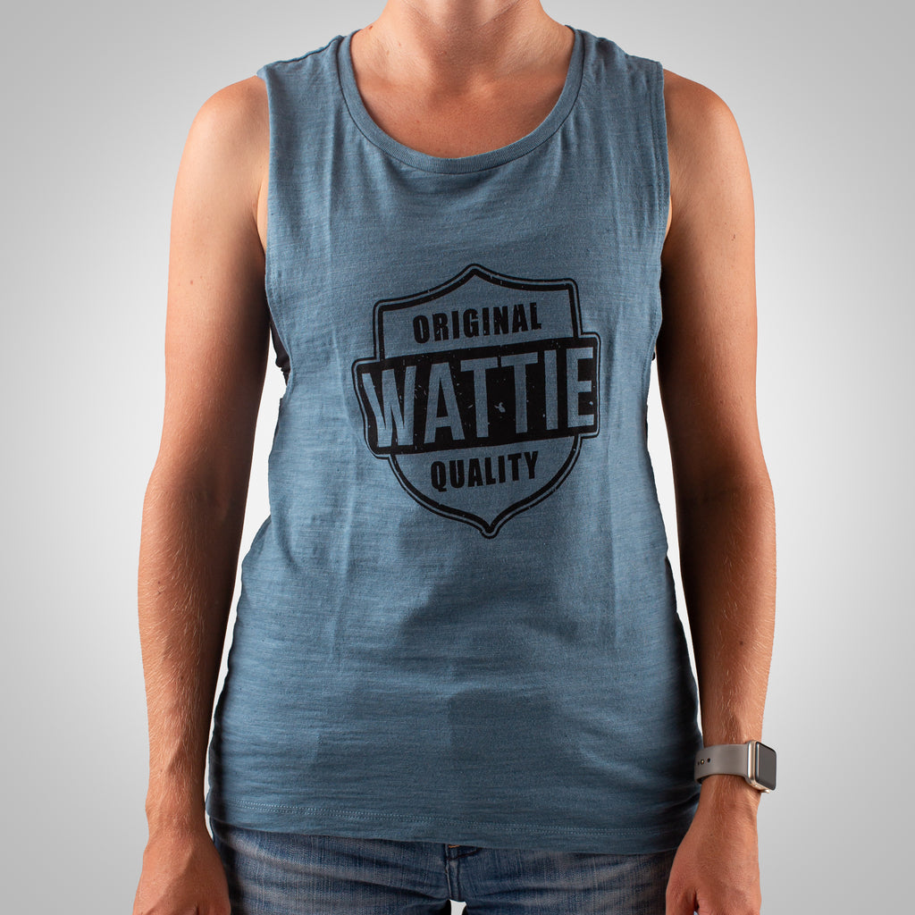 Women's Original Quality Muscle Tank - Denim Slub