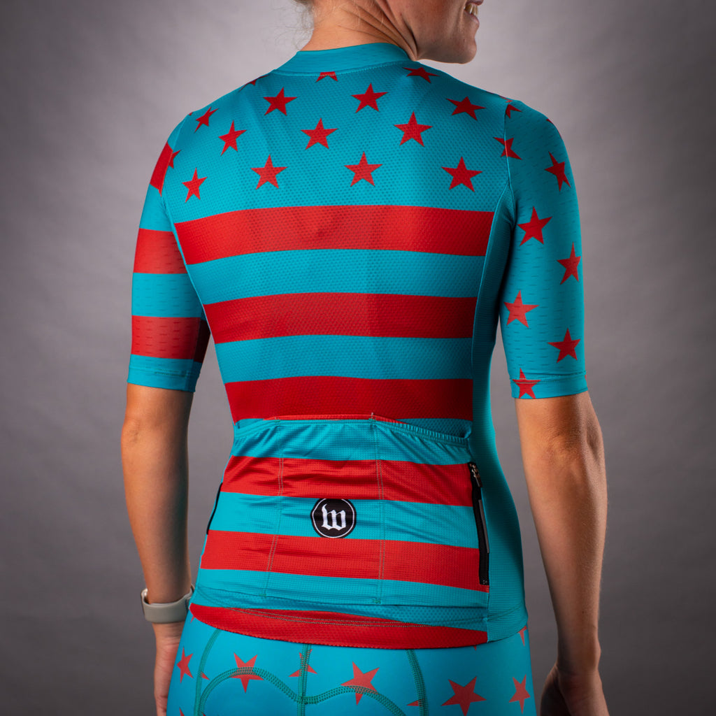 Women's Patriot 3 Contender 2.0 SS Cycling Jersey - Riviera