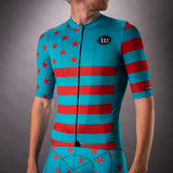 Men's Patriot 3 Contender 2.0 SS Cycling Jersey - Riviera