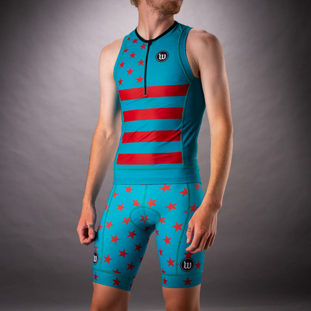Men's Patriot 3 Contender Aero Triathon Short - Riviera