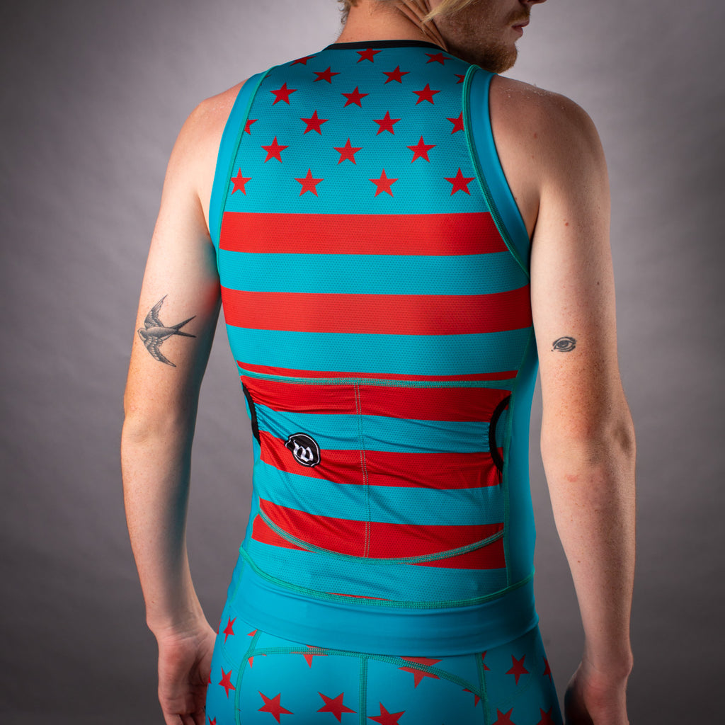 Men's Patriot 3 Contender Aero Triathlon Top - Riviera