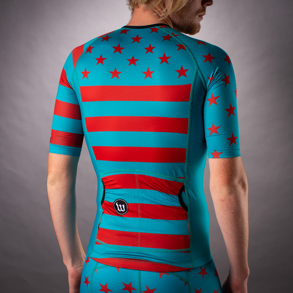 Men's Patriot 3 Contender Aero Triathlon Jersey - Riviera