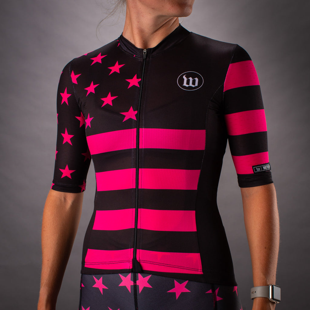 Women's Patriot 3 Contender 2.0 SS Cycling Jersey - Hottie