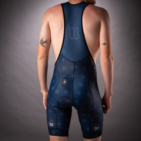 Men's Patriot 3 Contender Bib Short - Blue Notte-hover