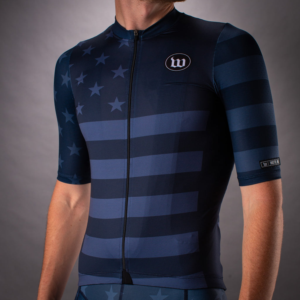 Men's Patriot 3 Contender 2.0 SS Cycling Jersey - Blue Notte