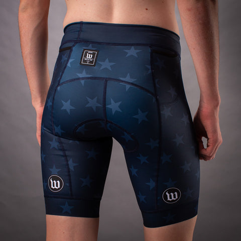 Men's Patriot 3 Contender Aero Triathon Short - Blue Notte