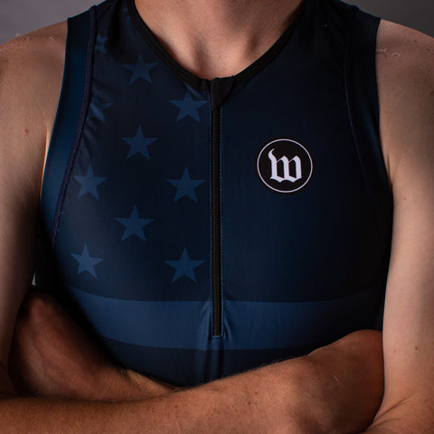 Men's Patriot 3 Contender Aero Triathlon Top - Blue Notte