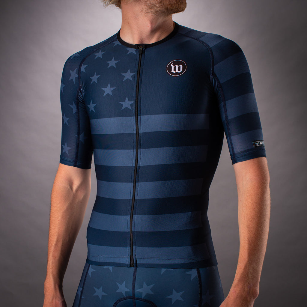 Men's Patriot 3 Contender Aero Triathlon Jersey - Blue Notte