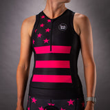Womens Patriot 3 Contender Aero Triathlon Top - Hottie