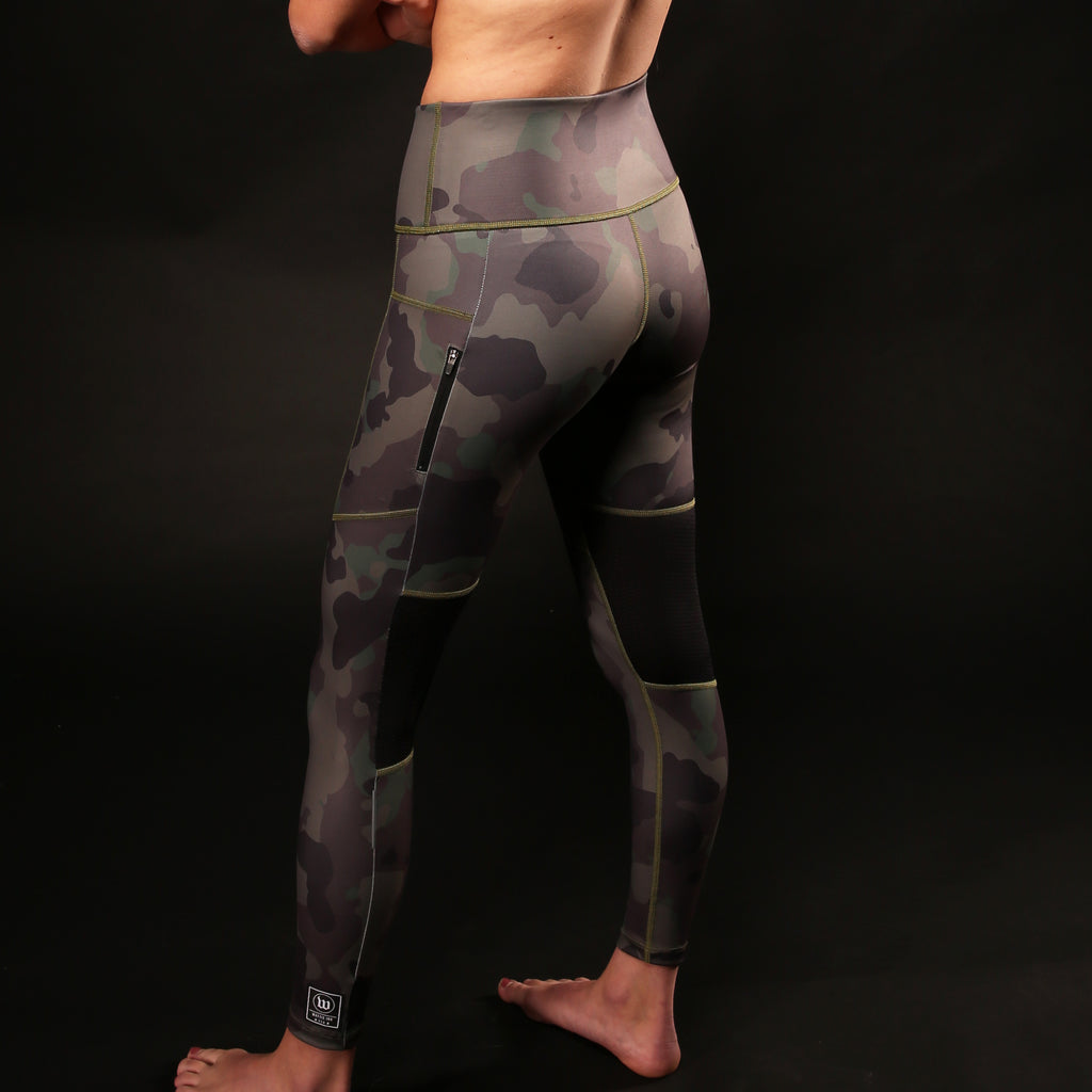 Women's Contender Deep Green Camo Utility Tight