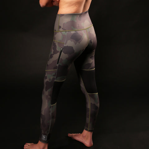 Contender Women's Utility Tight - Deep Green Camo