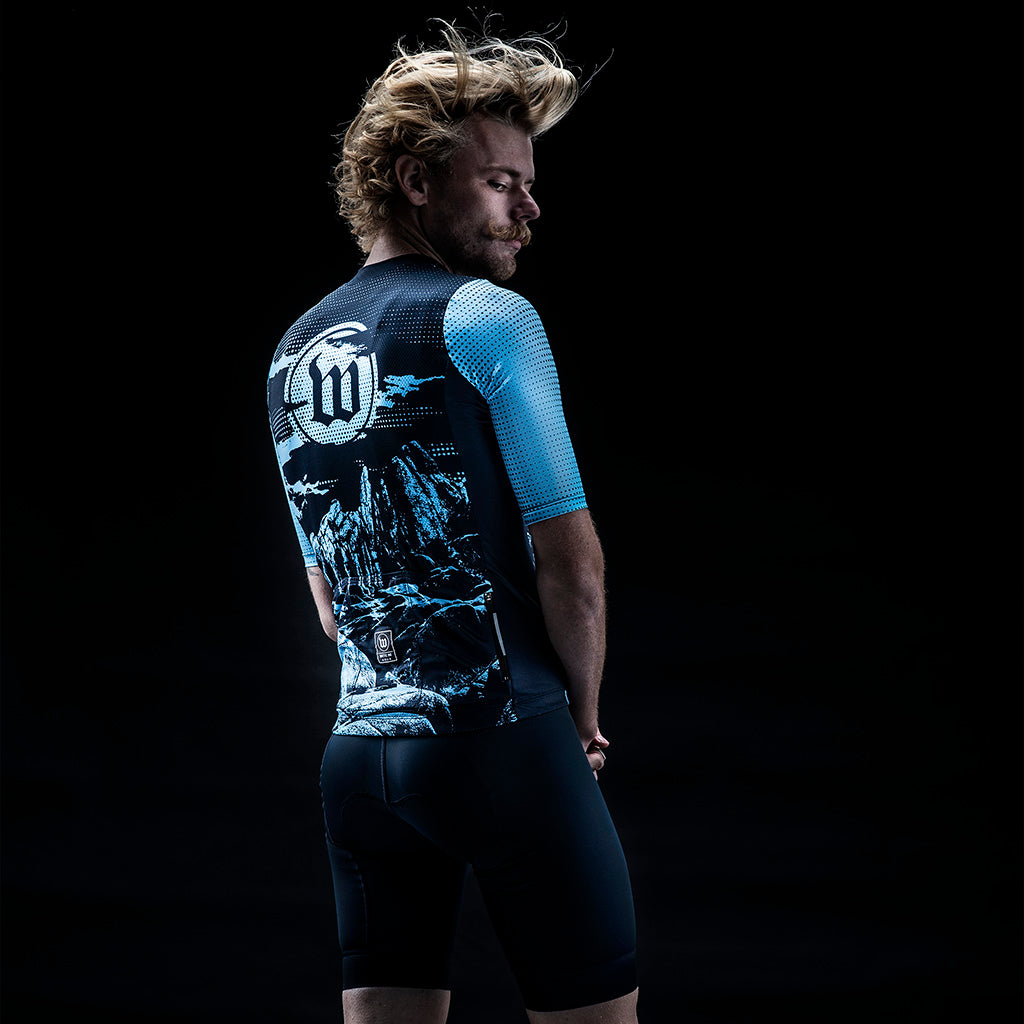 Men's Dharma Contender 2.0 SS Cycling Jersey - Nomad Midnight Blue
