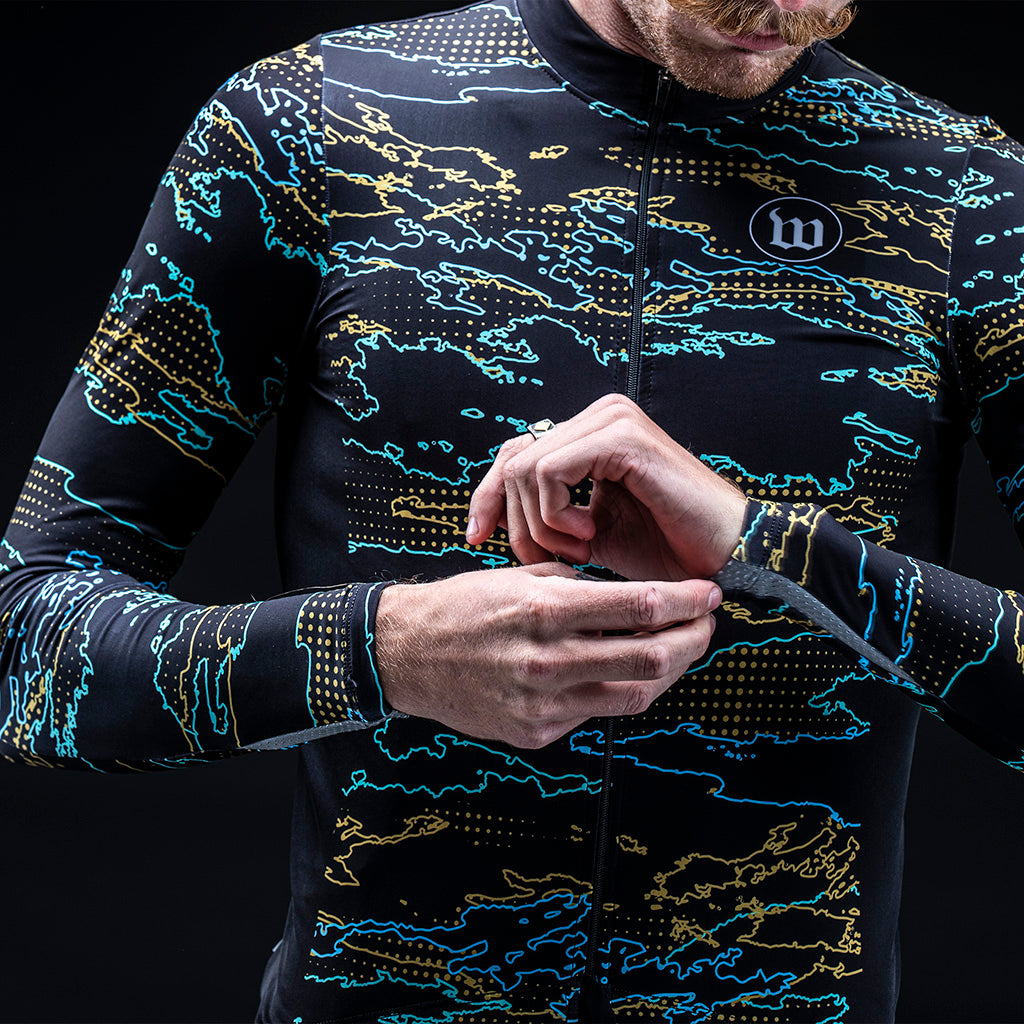 Men's Dharma Contender LS Thermal Jersey - Oasis
