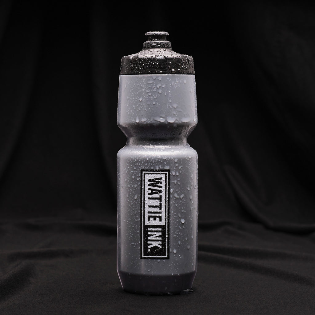 Wattie Ink. Logo Water Bottle - Silver