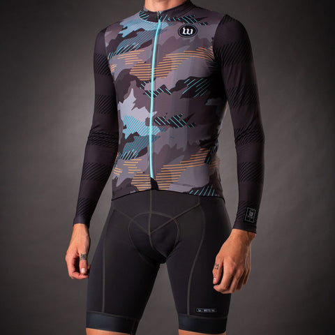 Men's Recon Contender 2.0 Long Sleeve Cycling Jersey - Charcoal