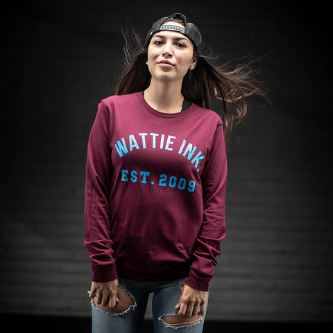 Unisex Varsity Long Sleeve Tee Shirt