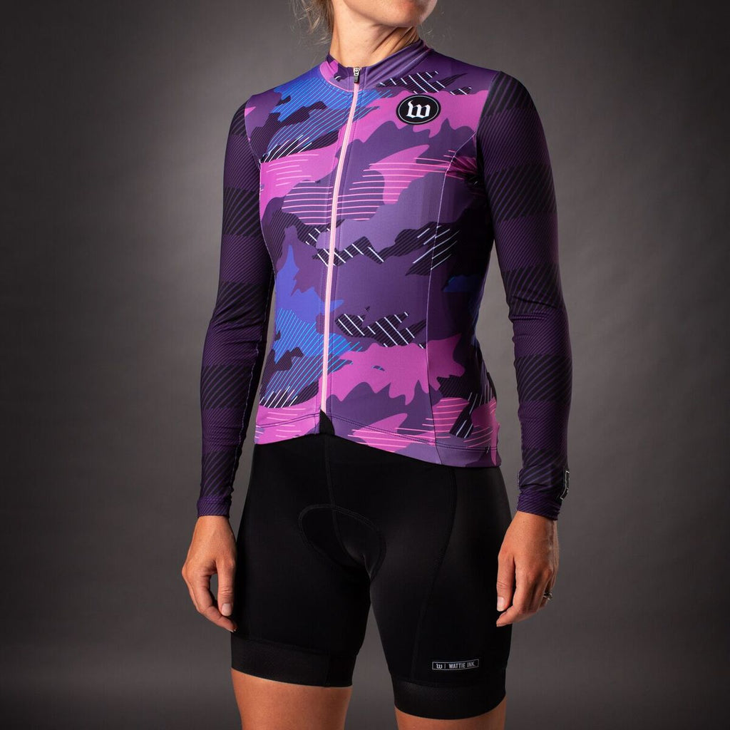 Women's Recon Contender 2.0 Long Sleeve Cycling Jersey  - Purple