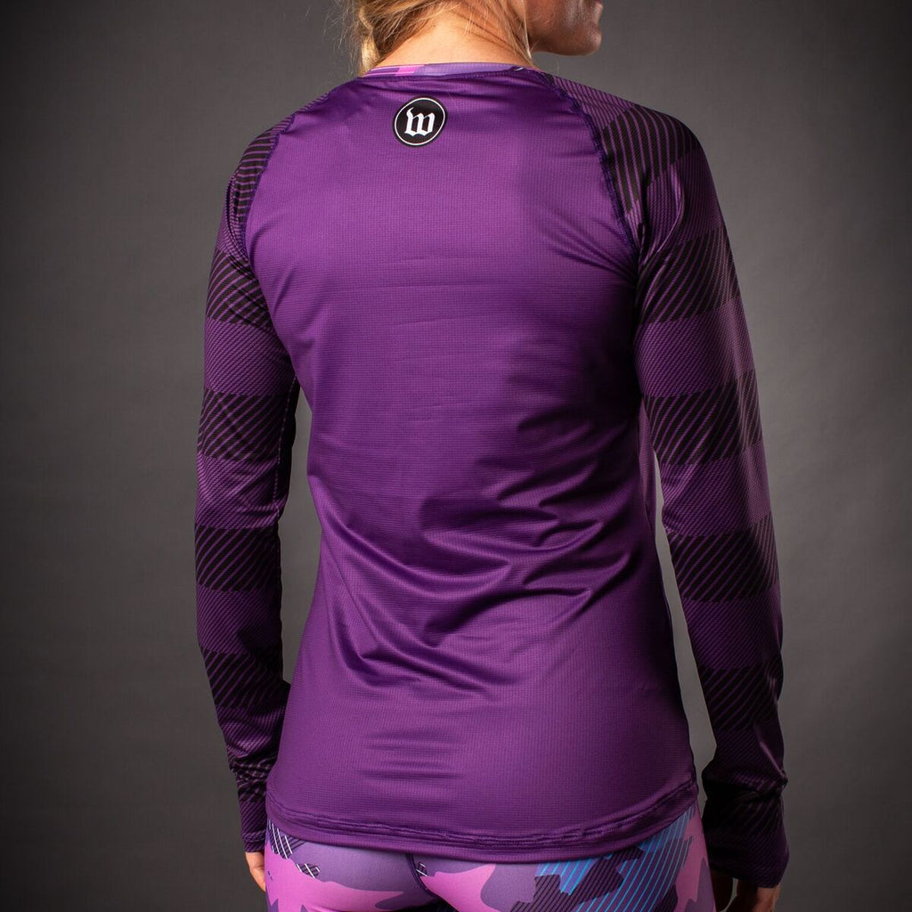 Women's Recon Long Sleeve Run Shirt - Purple