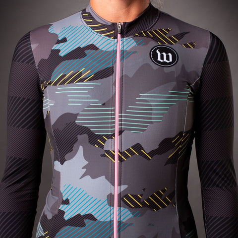 Women's Recon Contender 2.0 Long Sleeve Cycling Jersey - Charcoal-hover