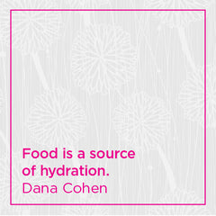 Food is a source of hydration.