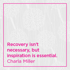 Recovery isn't necessary, but inspiration is essential.