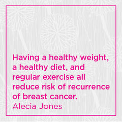Having a healthy weight, a healthy diet, and regular exercise all reduce risk of recurrence of breast cancer.