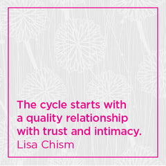 The cycle starts with a quality relationship with trust and intimacy.