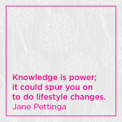 Knowledge is power; it could spur you on to do lifestyle changes.
